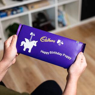 Personalised Cadburys Dairy Milk 360g (Unicorn Emoji)